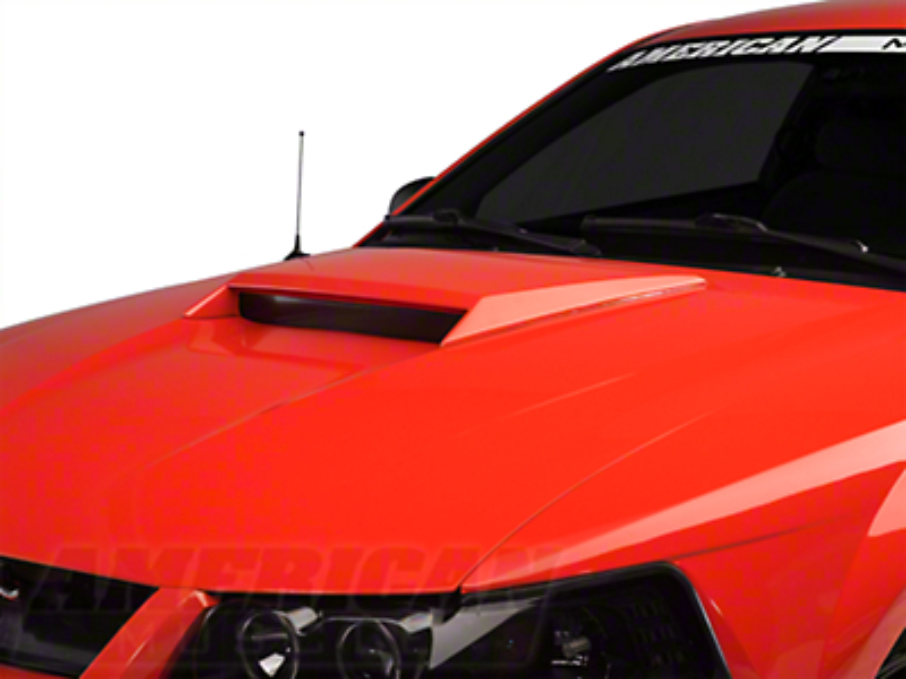 Xenon Hood Scoop - Unpainted (99-04 GT, 99-02 V6 Mustangs, 01 Bullitt)