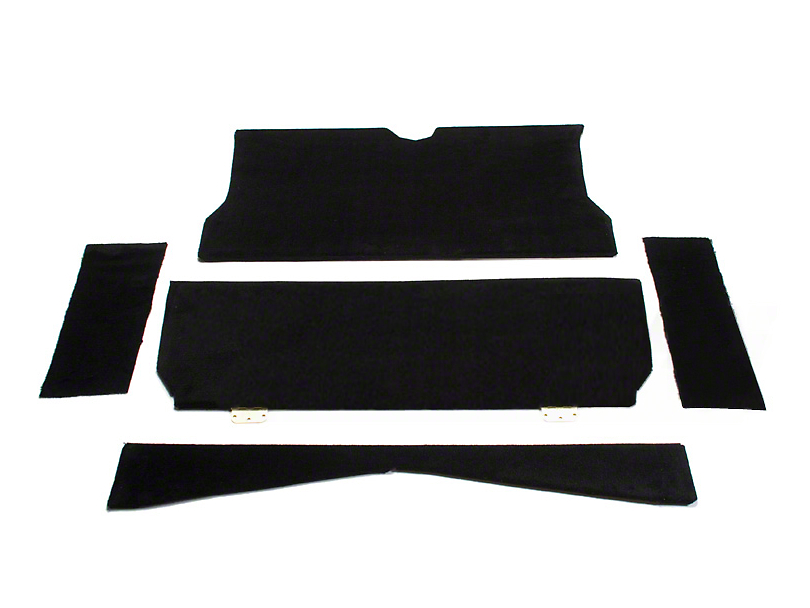 Rear Seat Delete Kit - Coupe - Black (79-93 All)