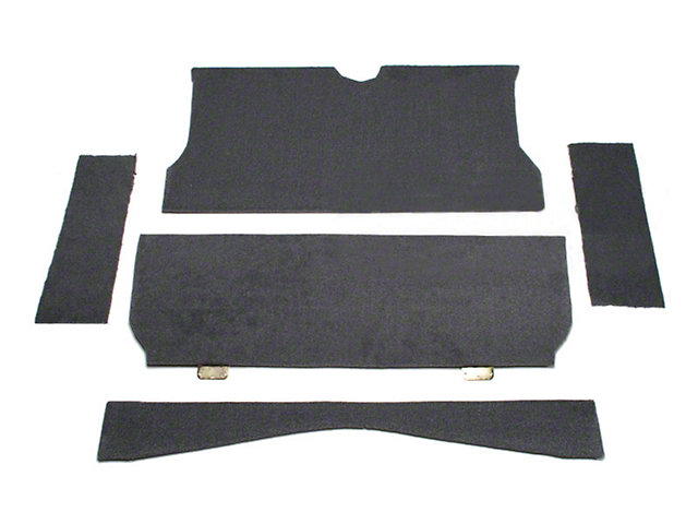 Rear Seat Delete Kit - Coupe - Gray (79-93 All)