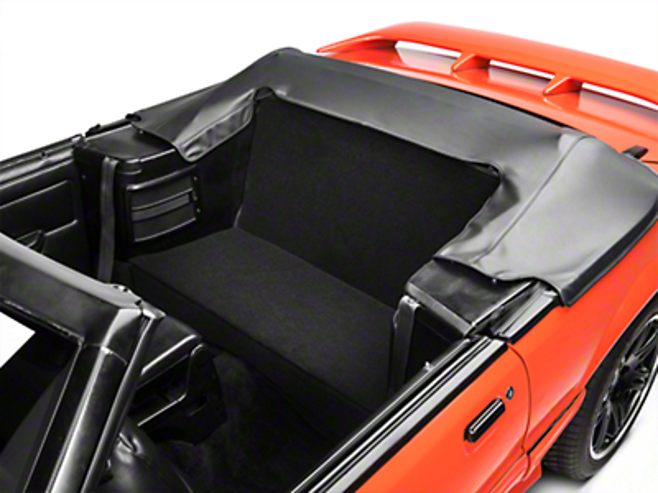 Rear Seat Delete Kit - Convertible - Black (83-93 All)