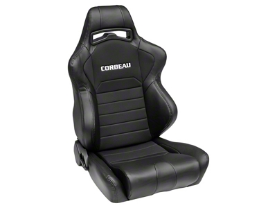 Corbeau LG1 Racing Seat - Black - Pair (79-14 All)