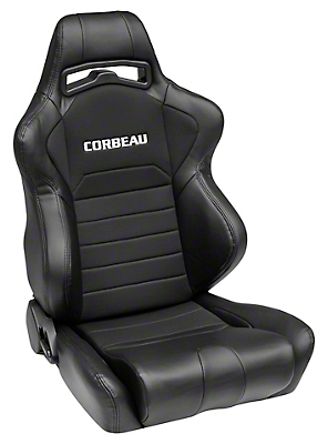 Corbeau LG1 Racing Seat - Black - Pair (79-16 All)