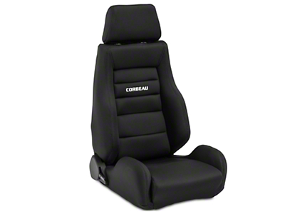 Corbeau GTS II Racing Seat - Black - Pair (79-16 All)