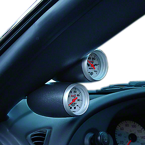 Speed of Sound Dual Gauge Pillar - Coupe - Dark Charcoal (Late 03-04 All)