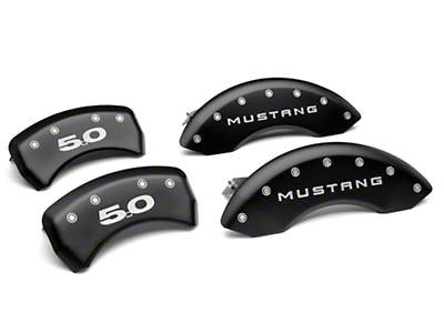 MGP Matte Black Caliper Covers w/ 5.0 Logo - Front & Rear (11-14 GT, V6)