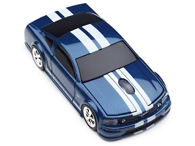 2005 Mustang GT Wireless Computer Mouse (Blue/White)