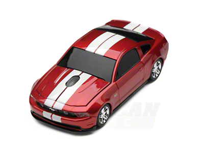 Road Mice 2011 Mustang GT Wireless Computer Mouse (Red/White)