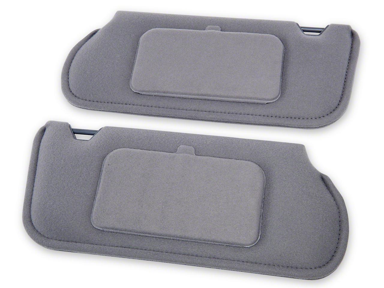 TMI Cloth Sun Visors w/ Mirrors- Smoke Gray (87-89 Coupe/Hatchback)