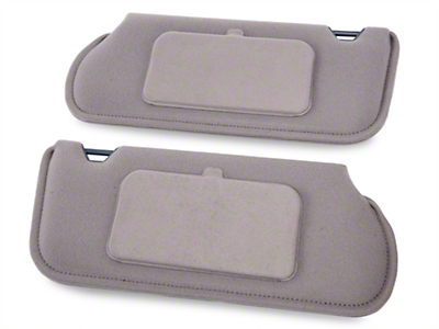 TMI Cloth Sun Visors w/ Mirrors- Coupe/Hatchback - Titanium Gray (85-93 All)