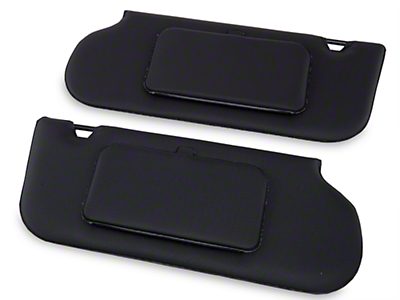 TMI Vinyl Sun Visors w/ Mirrors- T-Top/Sunroof - Black (85-93 All)
