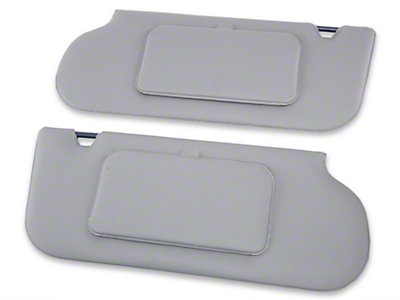 TMI Vinyl Sun Visors w/ Mirrors- T-Top/Sunroof - Smoke Gray (85-93 All)