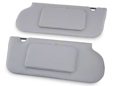 TMI Vinyl Sun Visors w/ Mirrors- T-Top/Sunroof - Titanium Gray (85-93 All)