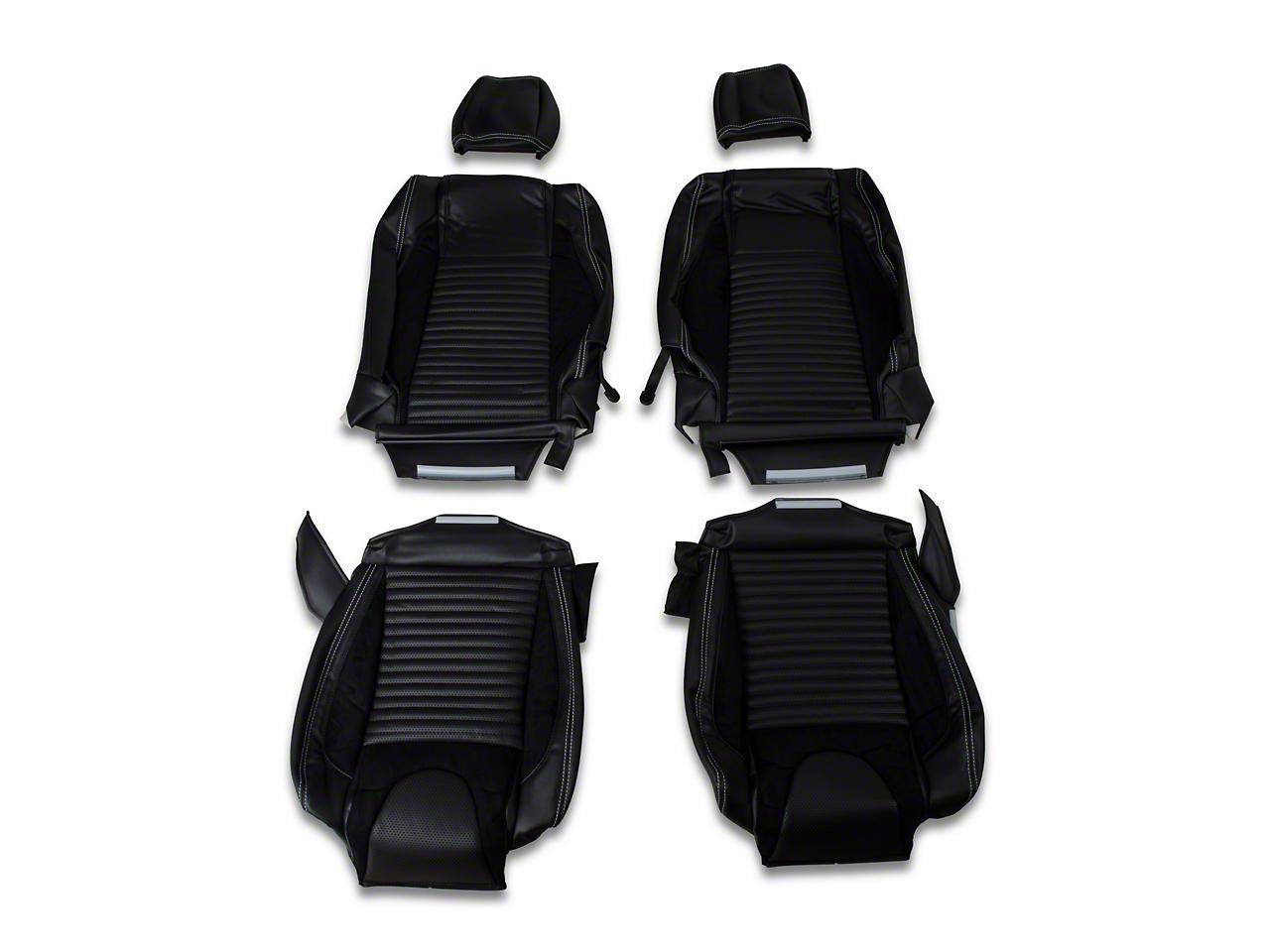 TMI Sport R Vinyl Upholstery Full Set - White Stitch (05-07 Convertible Non-Airbag)