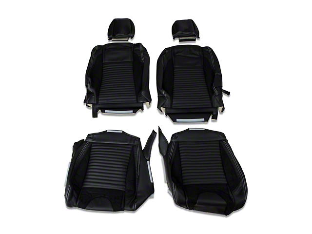 TMI Sport R Leather Upholstery Full Set - White Stitch (05-07 Coupe Non-Airbag)