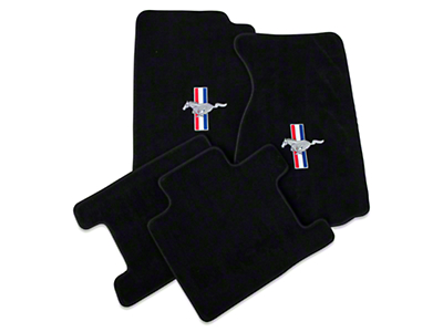 Black Floor Mats - Convertible - Pony Logo (94-98 All)