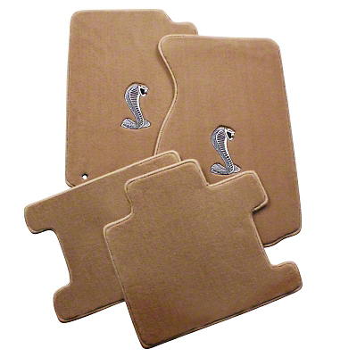 Parchment Floor Mats - Convertible - Cobra Logo (94-98 All)