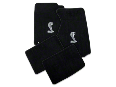 Lloyd Black Floor Mats - Coupe - Cobra Logo (94-98 All)