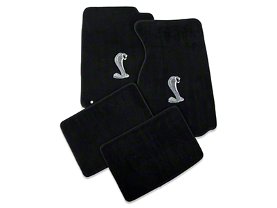 Black Floor Mats - Coupe - Cobra Logo (94-98 All)