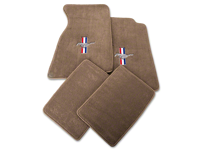 Lloyd Parchment Floor Mats - Pony Logo (99-04 All)
