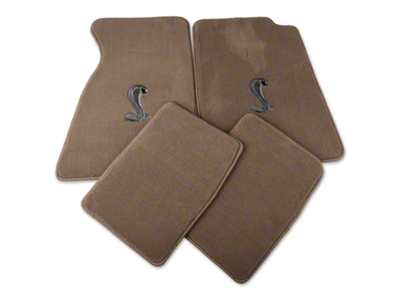 Lloyd Parchment Floor Mats - Coupe - Cobra Logo (94-98 All)