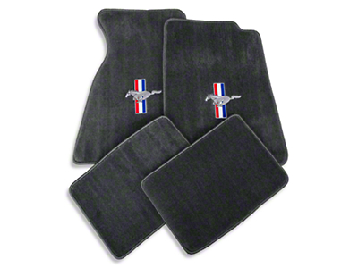 Gray Floor Mats - Coupe - Pony Logo (94-98 All)