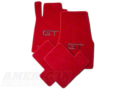 Red Floor Mats - GT Logo (05-10 All)