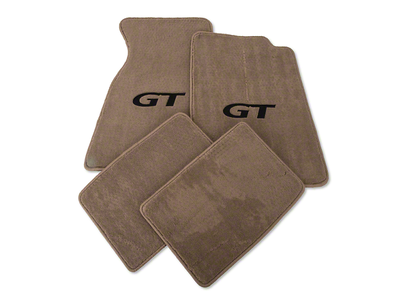 Lloyd Parchment Floor Mats - Coupe - Black GT Logo (94-98 All)
