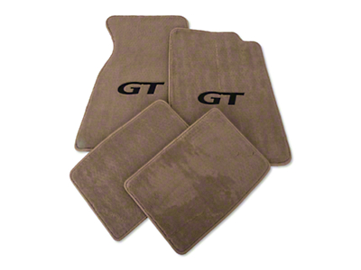 Parchment Floor Mats - Black GT Logo (99-04 All)