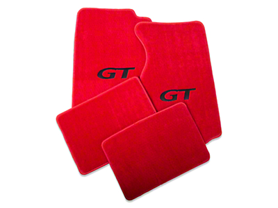 Red Floor Mats - Coupe - GT Logo (94-98 All)