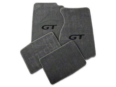 Gray Floor Mats - Coupe - GT Logo (94-98 All)