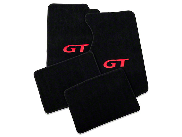Lloyd Black Floor Mats - Coupe - Red GT Logo (94-98 All)
