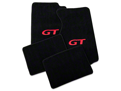 Black Floor Mats - Coupe - Red GT Logo (94-98 All)