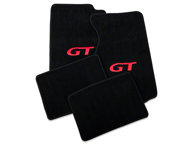Lloyd Black Floor Mats - Red GT Logo (99-04 All)