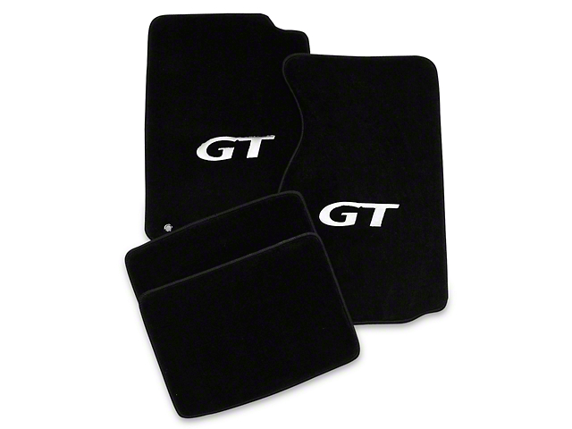 Lloyd Black Floor Mats - Coupe - Silver GT Logo (94-98 All)