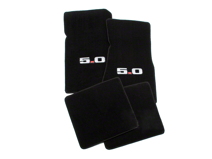 Lloyd Black Floor Mats - 5.0 Logo (79-93 All)