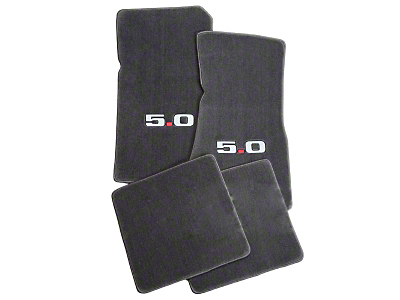 Gray Floor Mats - 5.0 Logo (79-93 All)