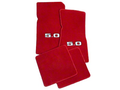 Red Floor Mats - 5.0 Logo (79-93 All)