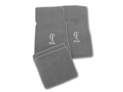 Gray Floor Mats - Cobra Logo (79-93 All)
