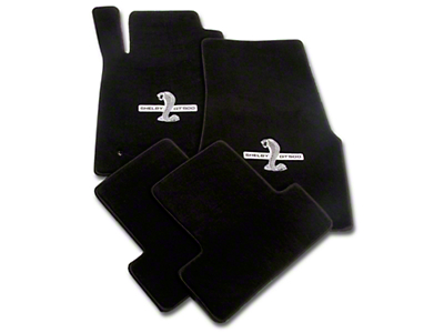 Black Floor Mats - Shelby GT500 Snake Logo (05-10 All)