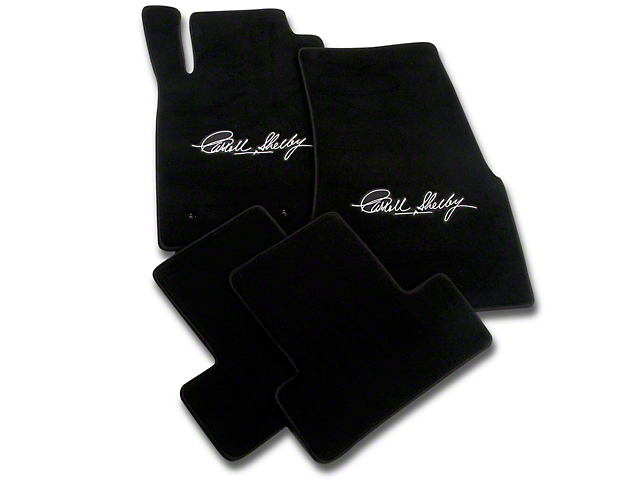 Lloyd Black Floor Mats - Carroll Shelby Signature (05-10 All)