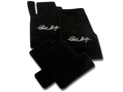 Black Floor Mats - Carroll Shelby Signature (05-10 All)
