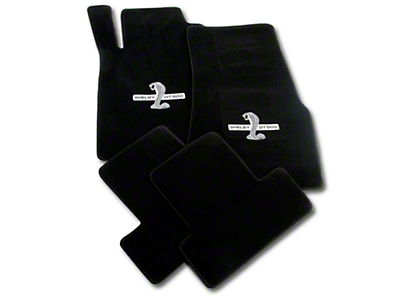 Black Floor Mats - Shelby GT500 Snake Logo (11-12 All)