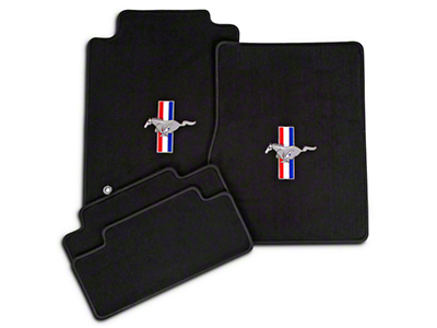 Dark Charcoal Floor Mats - Pony Logo (05-10 All)