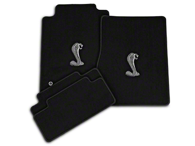 Black Floor Mats - Cobra Logo (05-10 All)