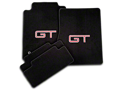 Dark Charcoal Floor Mats - Silver & Red GT Logo (05-10 All)