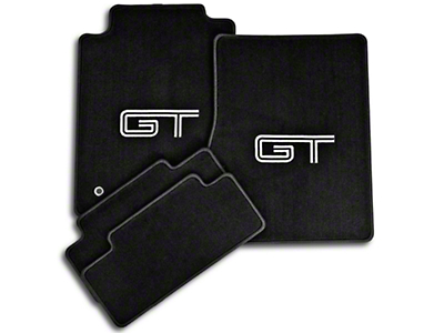 Black Floor Mats - Silver & Black GT Logo (05-10 All)