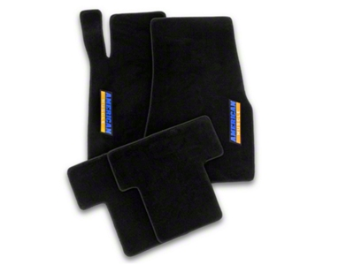 Black Floor Mats - AmericanMuscle Logo (11-12 All)