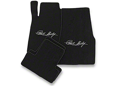 Black Floor Mats - Carroll Shelby Signature (13-14 All)