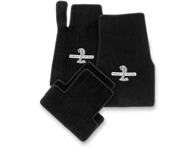 Lloyd Black Floor Mats - Shelby GT500 Snake Logo (13-14 All)