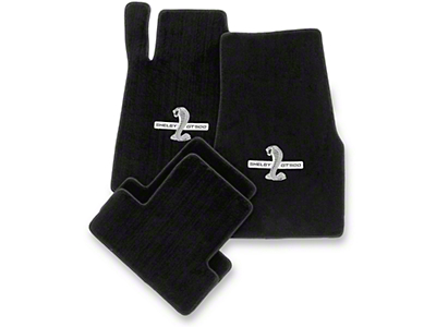 Black Floor Mats - Shelby GT500 Snake Logo (13-14 All)